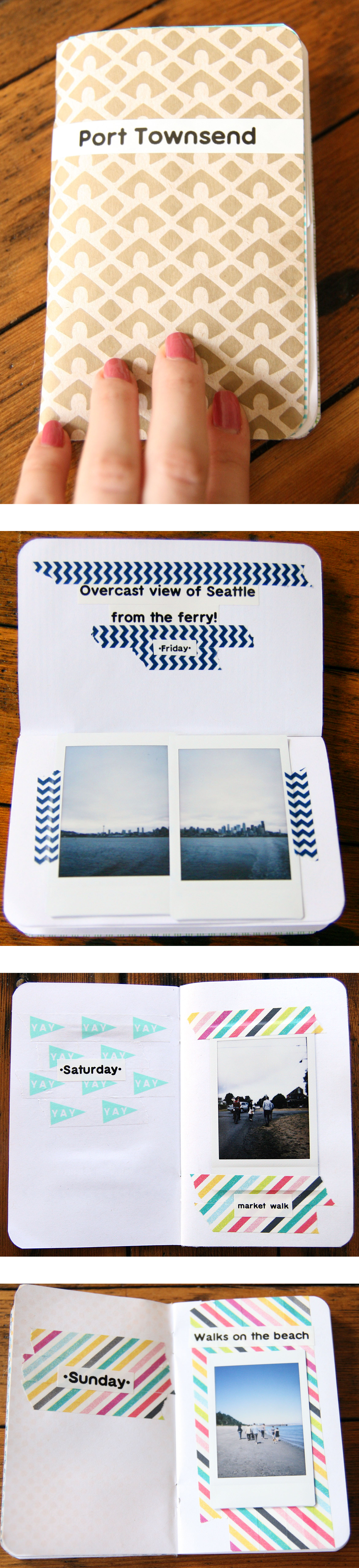 What A Cute Way To Document A Vacation A Handmade Instax Photo