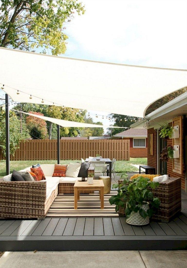 40 Diy Crafts Shade Canopy Ideas For Patio Backyard Decorations Outdoor Patio Designs Patio Design Diy Outdoor Seating