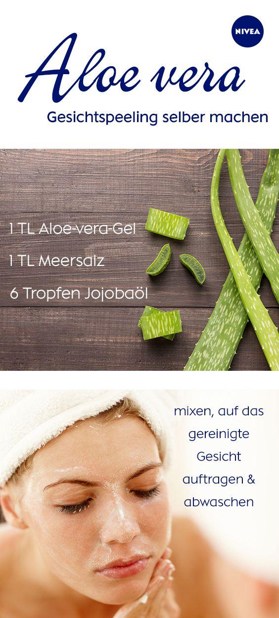 Aloe vera Gel Anwendung für Haut und Haare