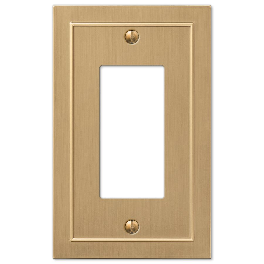 Allen And Roth Wall Plates Prepossessing Allen  Roth Bethany 1Gang Champagne Bronze Decorator Wall Plate Design Decoration