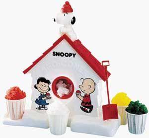 Snoopy snowcone factory!