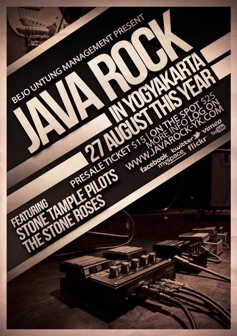 Java Rock Flyer Poster Template By ThinhoDeviantartCom On