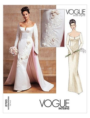 Vogue+2720++Misses\'+Bridal+Gown+++Size+12-14-16++Bust++34-36-38,+$ ...