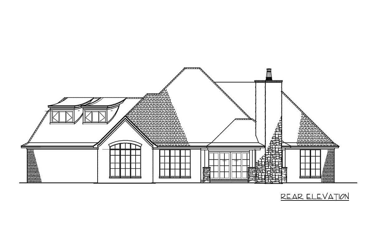 Plan 70553mk 4 Bed House Plan With Master Walk In Closet Laundry Access House Plans Brick Stone Room Planning