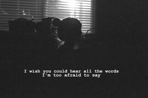 Tenho medo de dizer tanta coisa