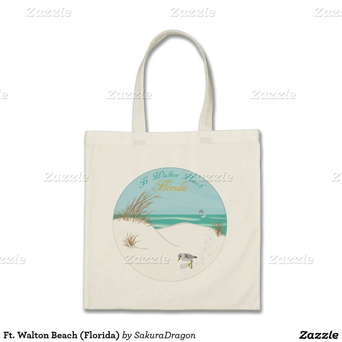 Ft. Walton Beach (Florida) Budget Tote Bag #florida #beach #summer #vacation #dolphin