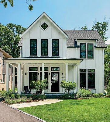 Carson and dori boneck balance rustic and urban styles in - Rustic modern farmhouse exterior ...