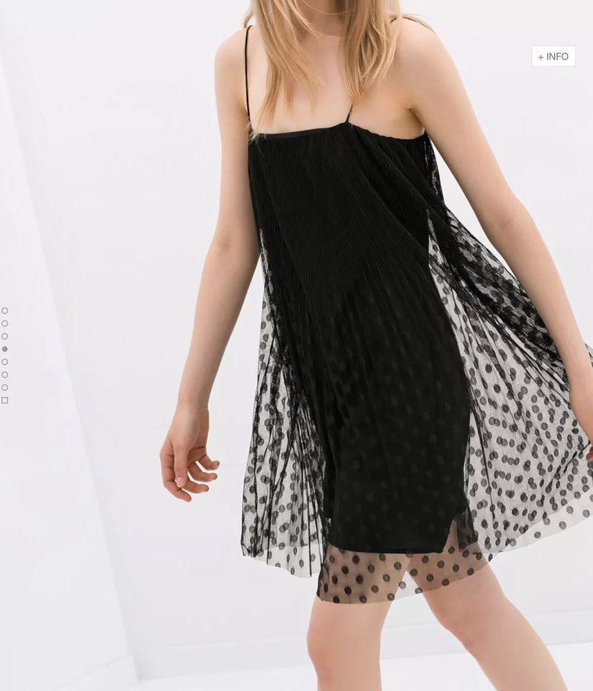 Nwt Very Rare Zara Sheer Overlay Dress Black Polka Dot Lace Spaghetti Strap Xs Ebay Sheer Overlay Dress Sheer Lace Dress Dresses [ 1000 x 858 Pixel ]