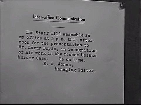 Interoffice memo from the managing editor The Mystery Man (1935 - inter office memo