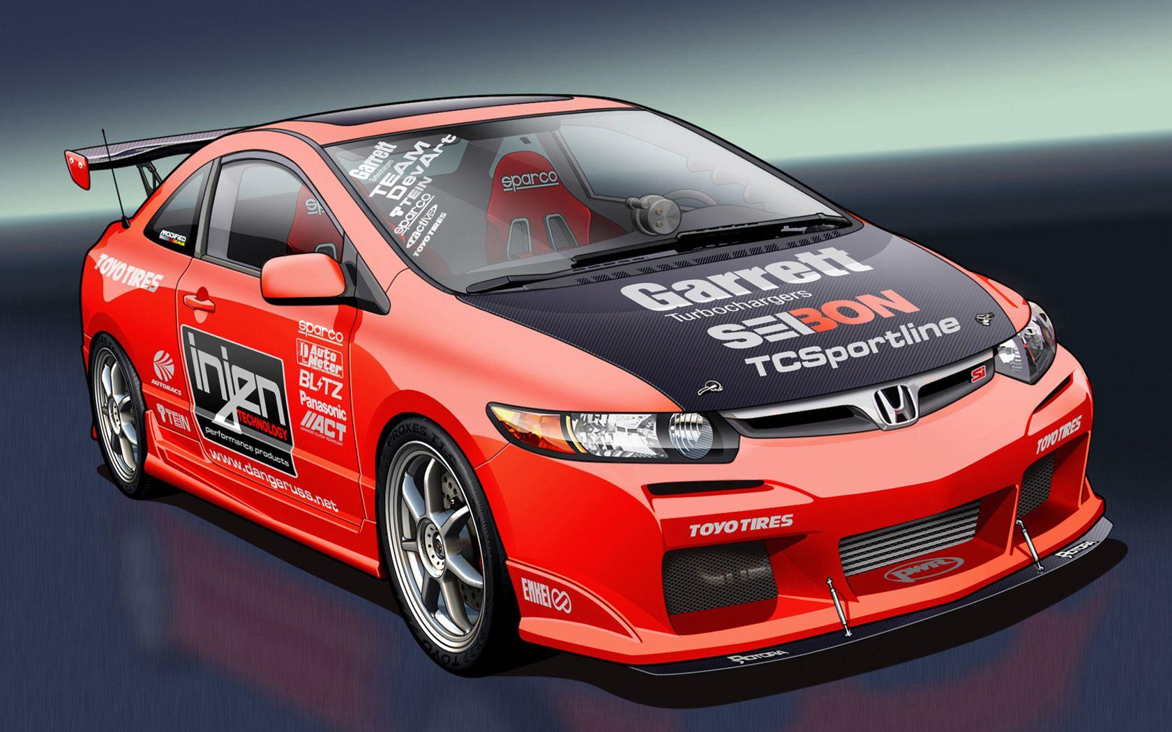 8 3D Car Design Honda cars, Honda civic coupe, 2006