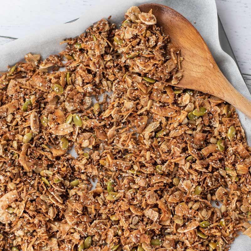 Easy keto cereal recipe low carb breakfast crunchy