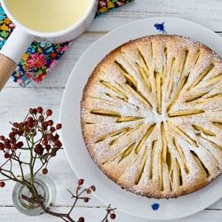 Apple Kuchen Cake With Hot Cream Sauce From The French Laundry Cookbook Sweet Recipes Desserts Food