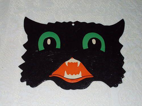 Vintage Embossed Halloween Die Cut Cardboard Decoration Cut Out
