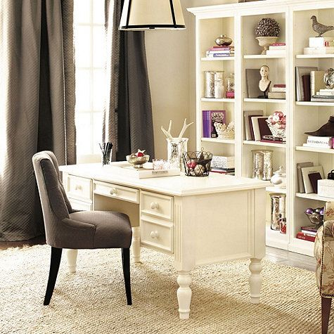 Ballard Designs Quality home office ensemble 3-drawer desk | home: office: furniture
