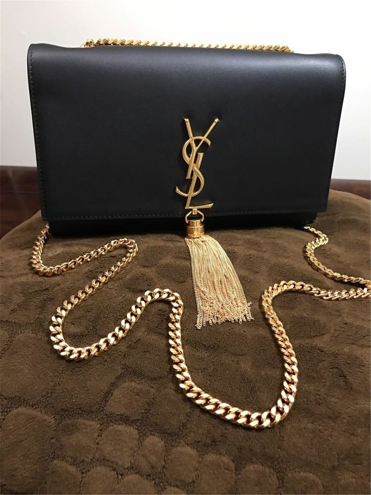 b989f11ffc Yves Saint Laurent YSL Tassel Black Leather Clutch Flap Bag  fashion   clothing  shoes  accessories  womensbagshandbags (ebay link)