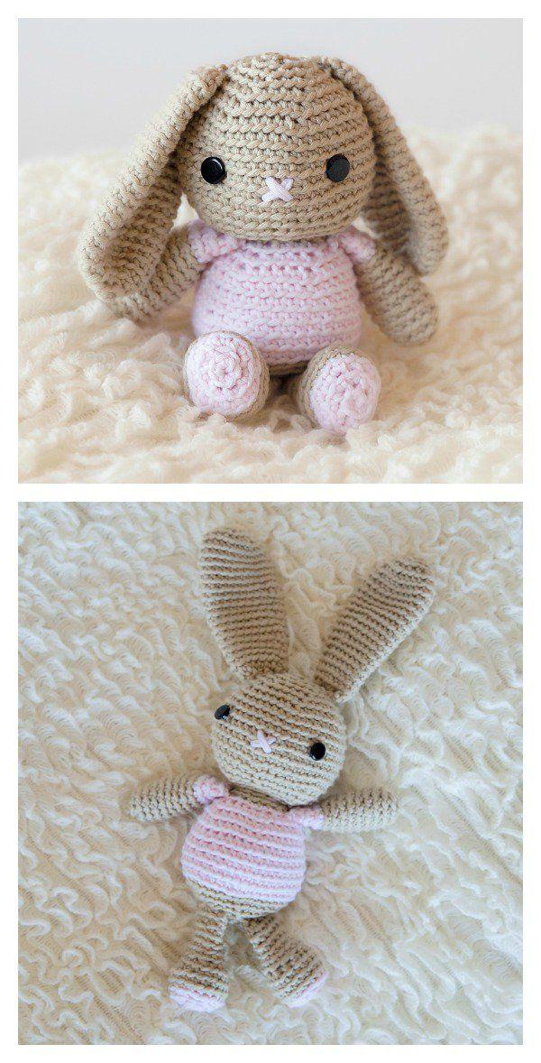 Free Amigurumi Bunny Crochet Patterns | Tejido, Paños y Bancos