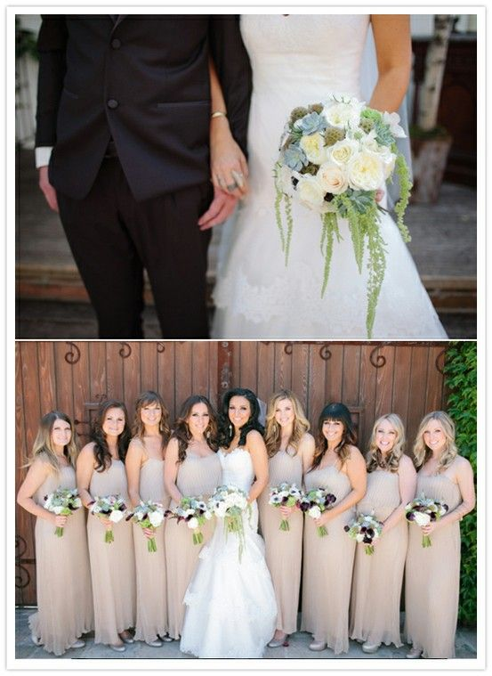 b883512c48 nude colored entourage Tan Bridesmaids