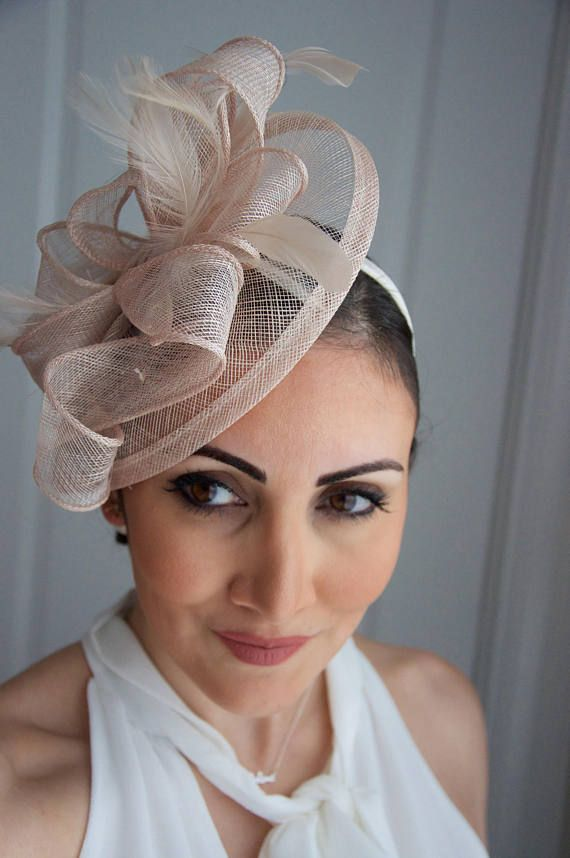 Nude Fascinator Penny Mesh Hat Fascinator with  5b97e803419d