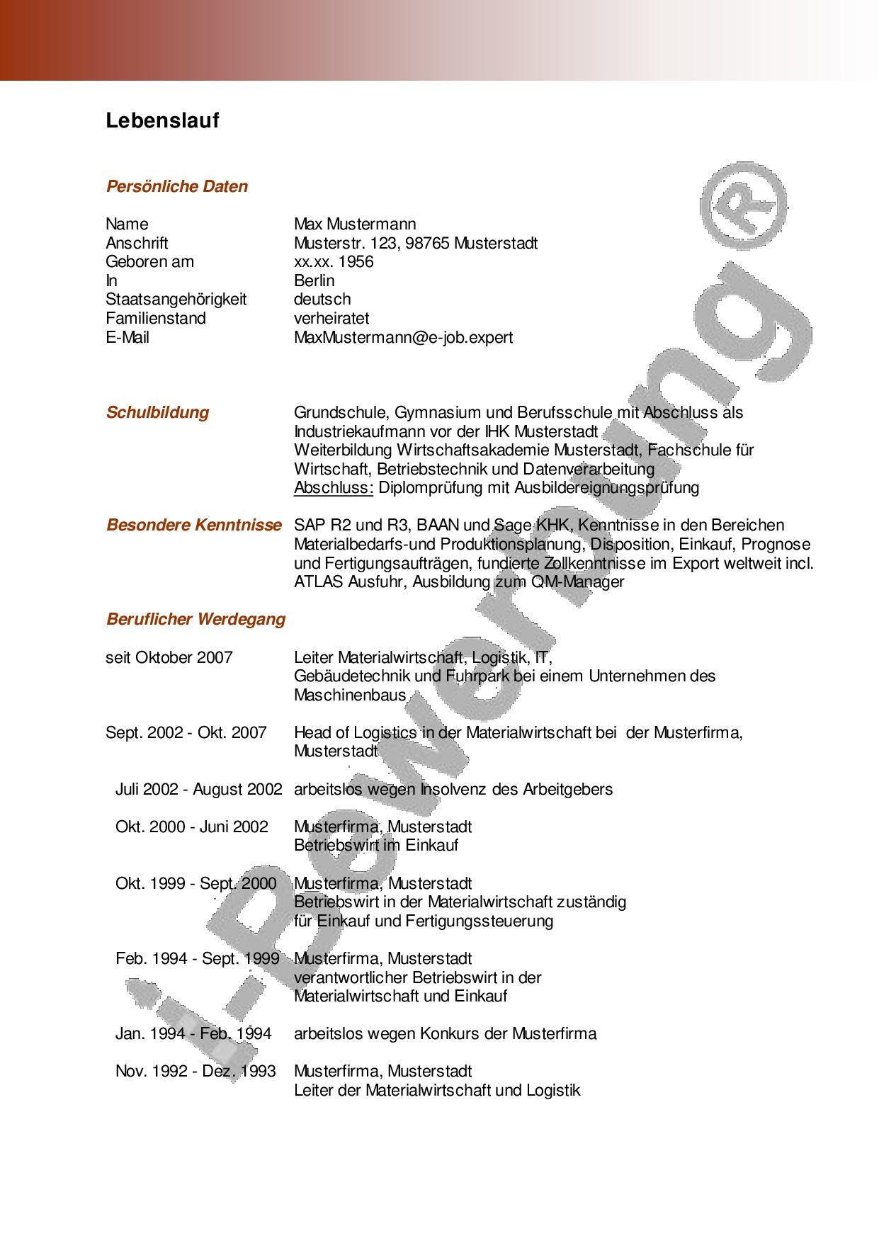 Charmant Perfekte Lebenslaufbeispiele Ideen Entry Level Resume