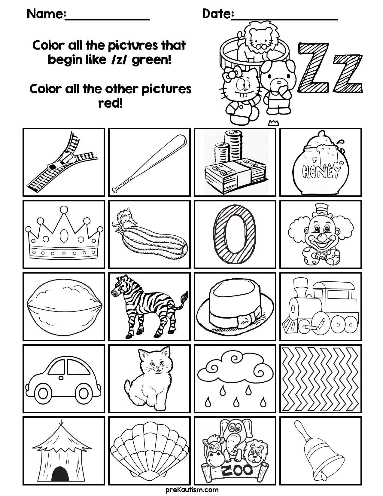 Find & Color Consonants Worksheets