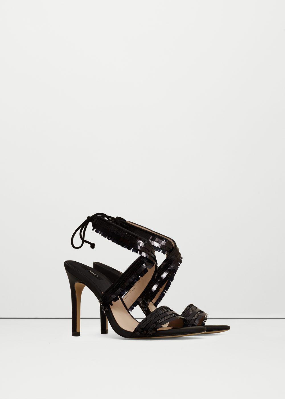 Lace-up heel sandals -  Women | MANGO USA