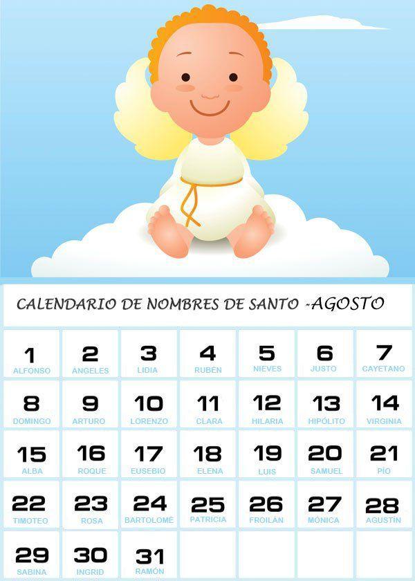 Calendario Santos.Nombres De Santos De Agosto Para Los Bebes Santos