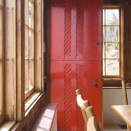 Dutch Door Traditional Dining Room Cottage Exterior