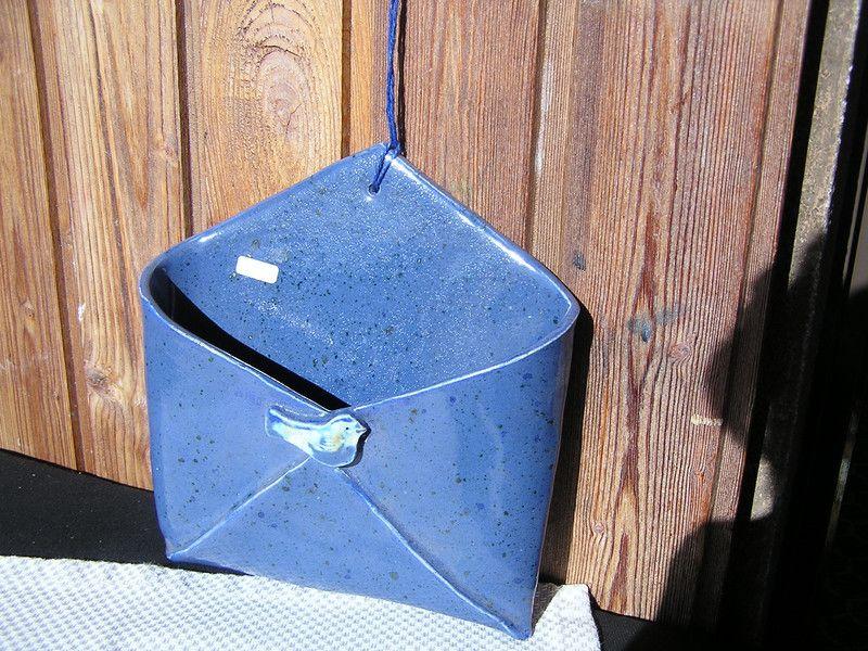 Briefkasten, aus Ton handgeformt   Deko von elfriede-2-elfriede - figuren aus ton selber machen