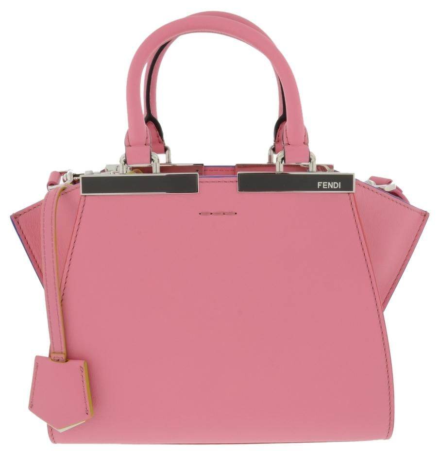 64302007f9 Get one of the hottest styles of the season! The Fendi Mini 3jours Leather  Pink Tote Bag is a top 10 member favorite on Tradesy.