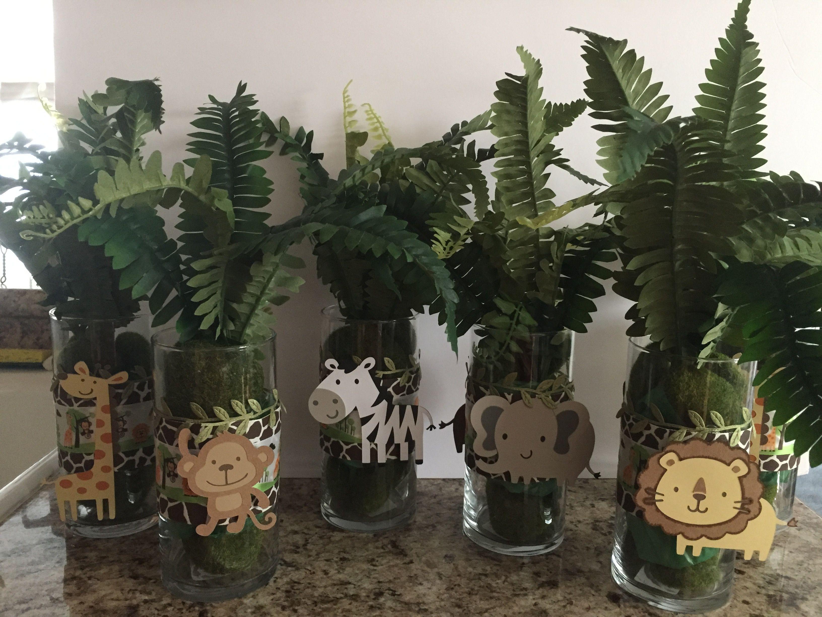 Jungle Centerpieces Jungle Centerpieces Holiday Decor Jungle Baby Shower