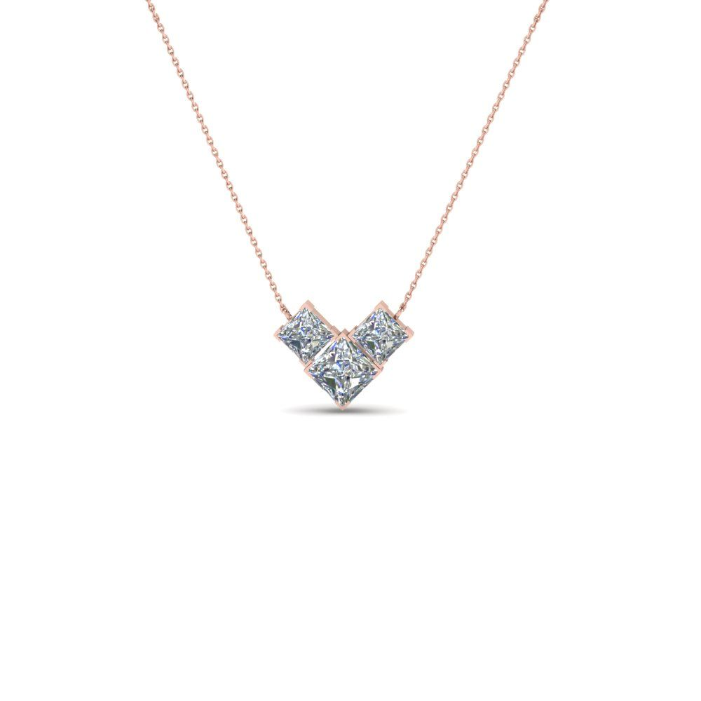 charm pendant centres diamond necklace princess starra cut product