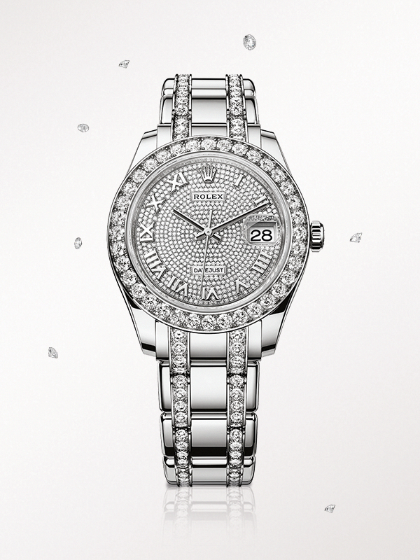 The Rolex Pearlmaster 39 In White Gold With A Diamond Paved Dial And Diamond Set Pearlmaster Bracelet Diamondwatc Luxury Watches For Men Rolex Rolex Watches