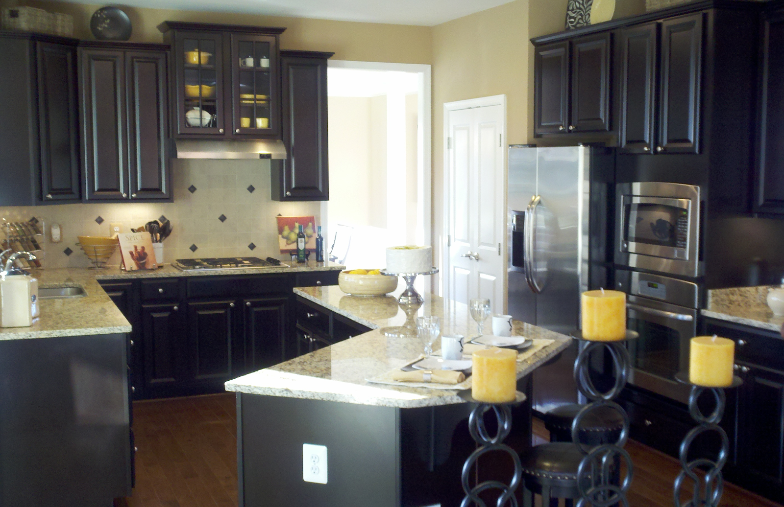 Welcome To The Beginning Of Our Journey Kitchen Cabinets Decor Home Kitchens Espresso Kitchen Cabinets
