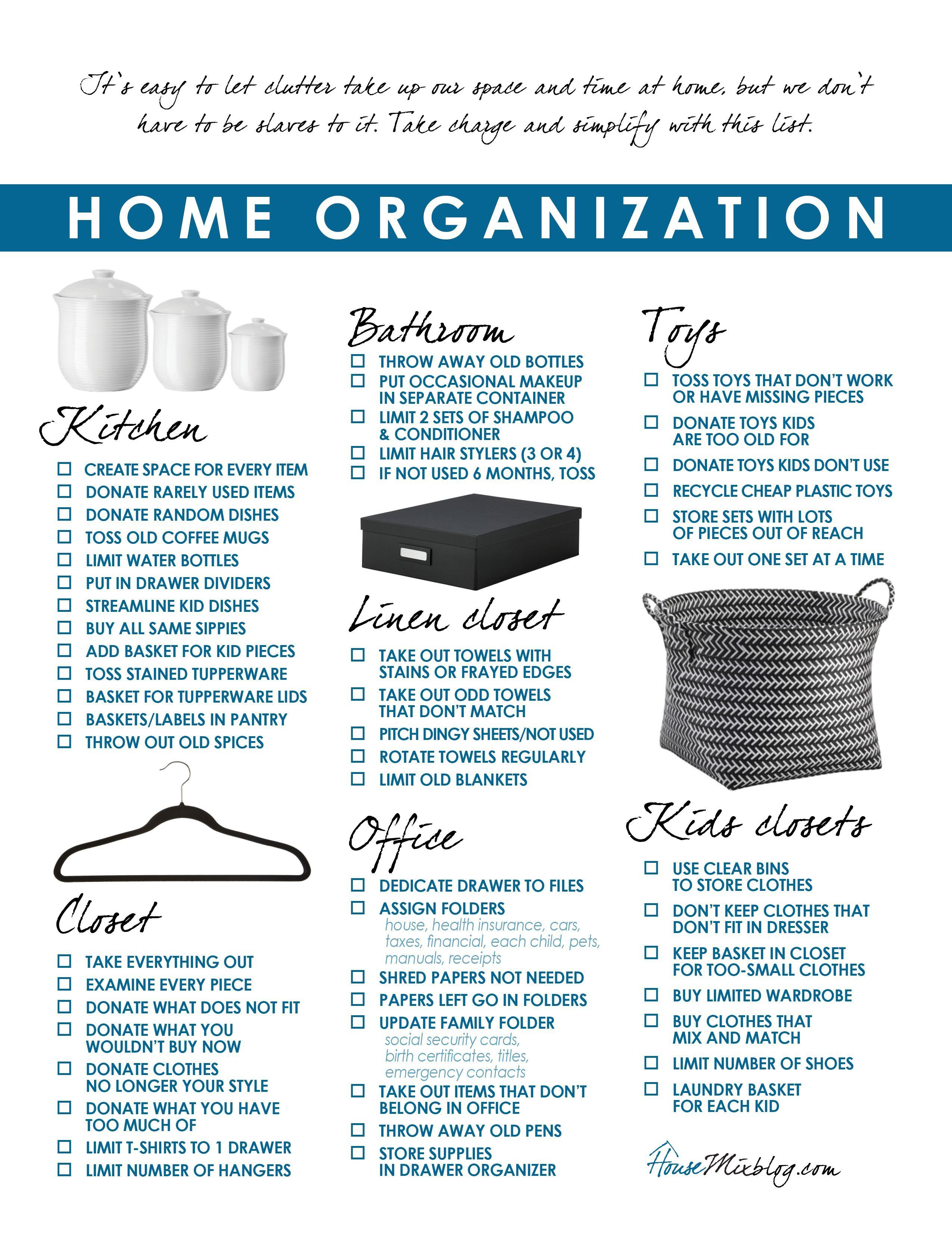 This blogger has created a room-by-room decluttering checklist ...
