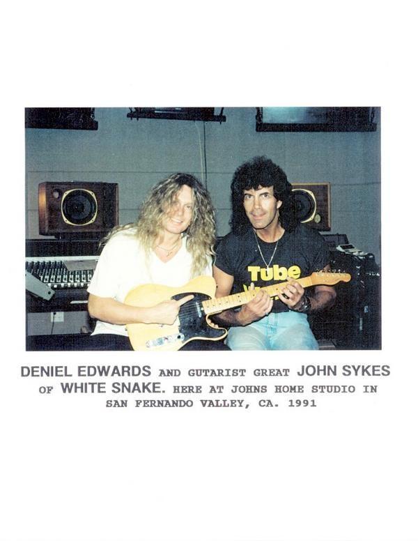 John Sykes at his home studio