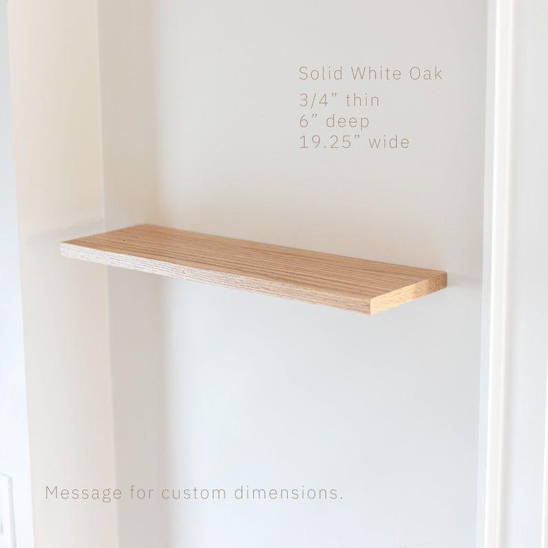 Floating Shelf Wood Pine Or White Oak Floating Shelves Etsy