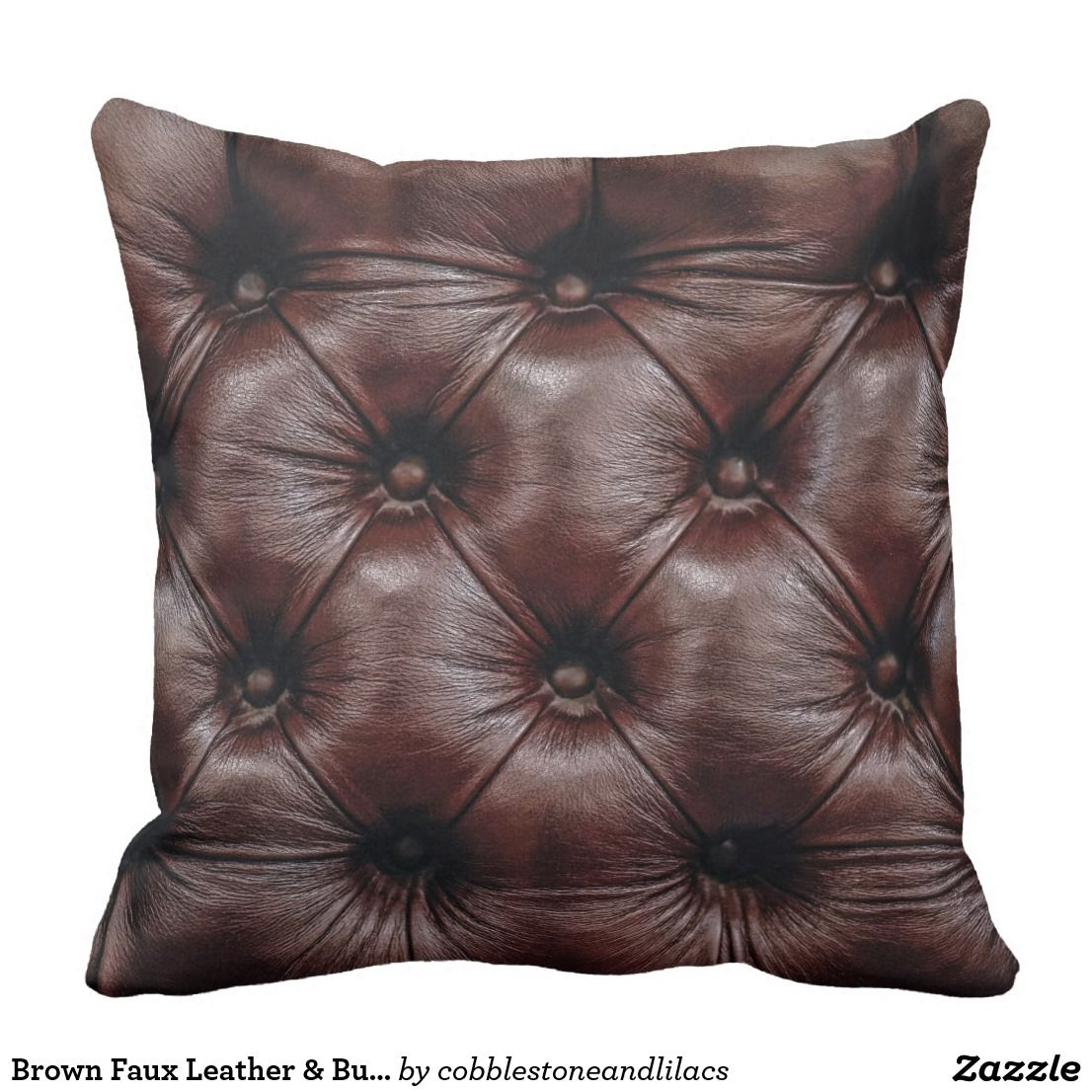 brown faux leather buttons not real