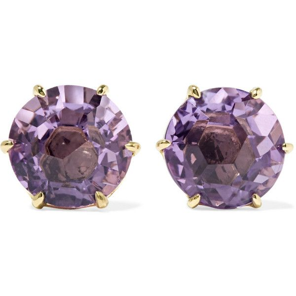 Ippolita Rock Candy 18-karat Gold Amethyst Earrings jPjqV5D
