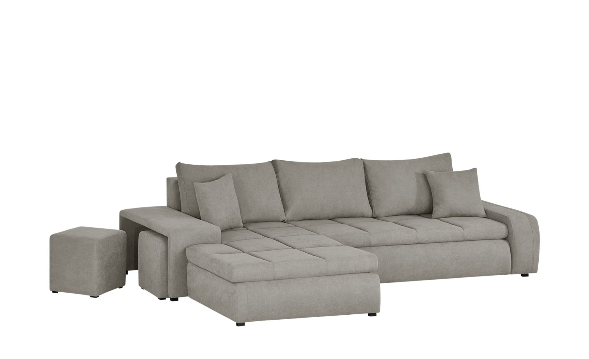 Brilliant Switch Ecksofa Mit 2 Hockern Beige Mikrofaser Riva Beige Alphanode Cool Chair Designs And Ideas Alphanodeonline