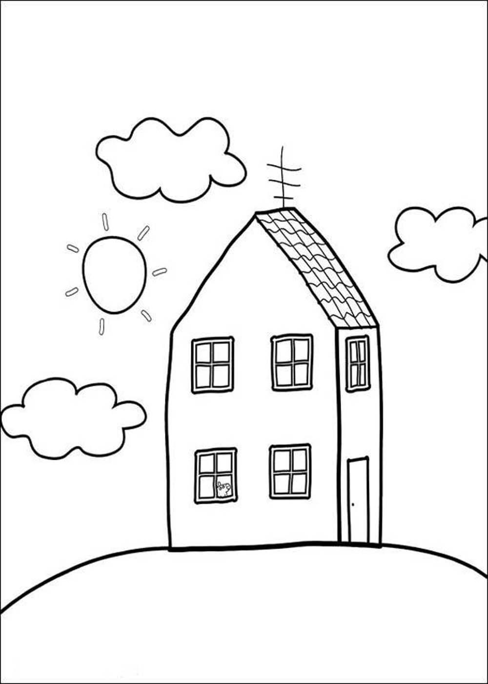 Casa de Peppa Pig para colorear | Casa de Peppa Pig para colorear