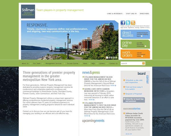 Stillman Property Management Web Site Property Management Real Estate Website Property
