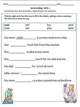 Verbs Worksheets Action Words For Grade 1 Grammar Pinterest