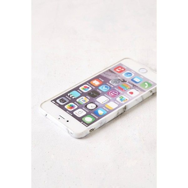White Marble iPhone 6 Plus/6s Plus Case (£16) ❤ liked on Polyvore featuring home, home decor and urban outfitters