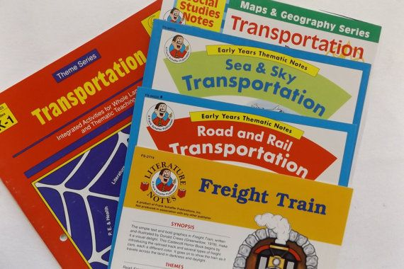 TRANSPORTATION: Set of Five Educational Guides for Parent or Teacher
