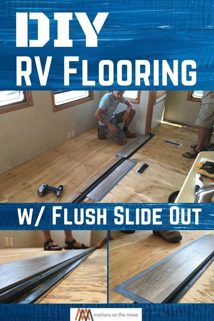 Diy rv flooring with a flush slideout diy rv rv carpet