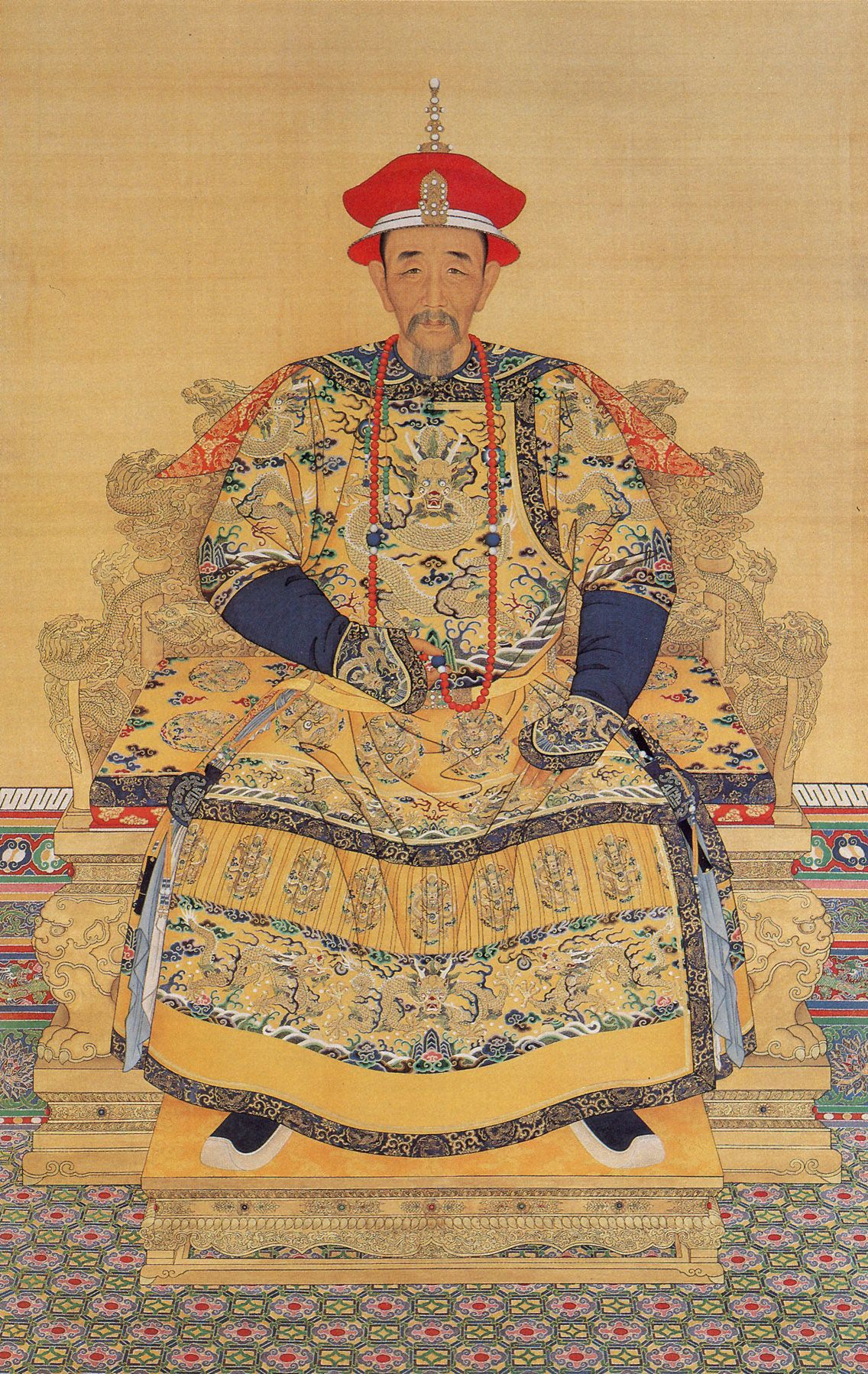 emperor kang hsi About kang hsi emperor aka kangxi emperor from portraits of historical figures of qing china portrait by artist-historian george stuart catelog name.