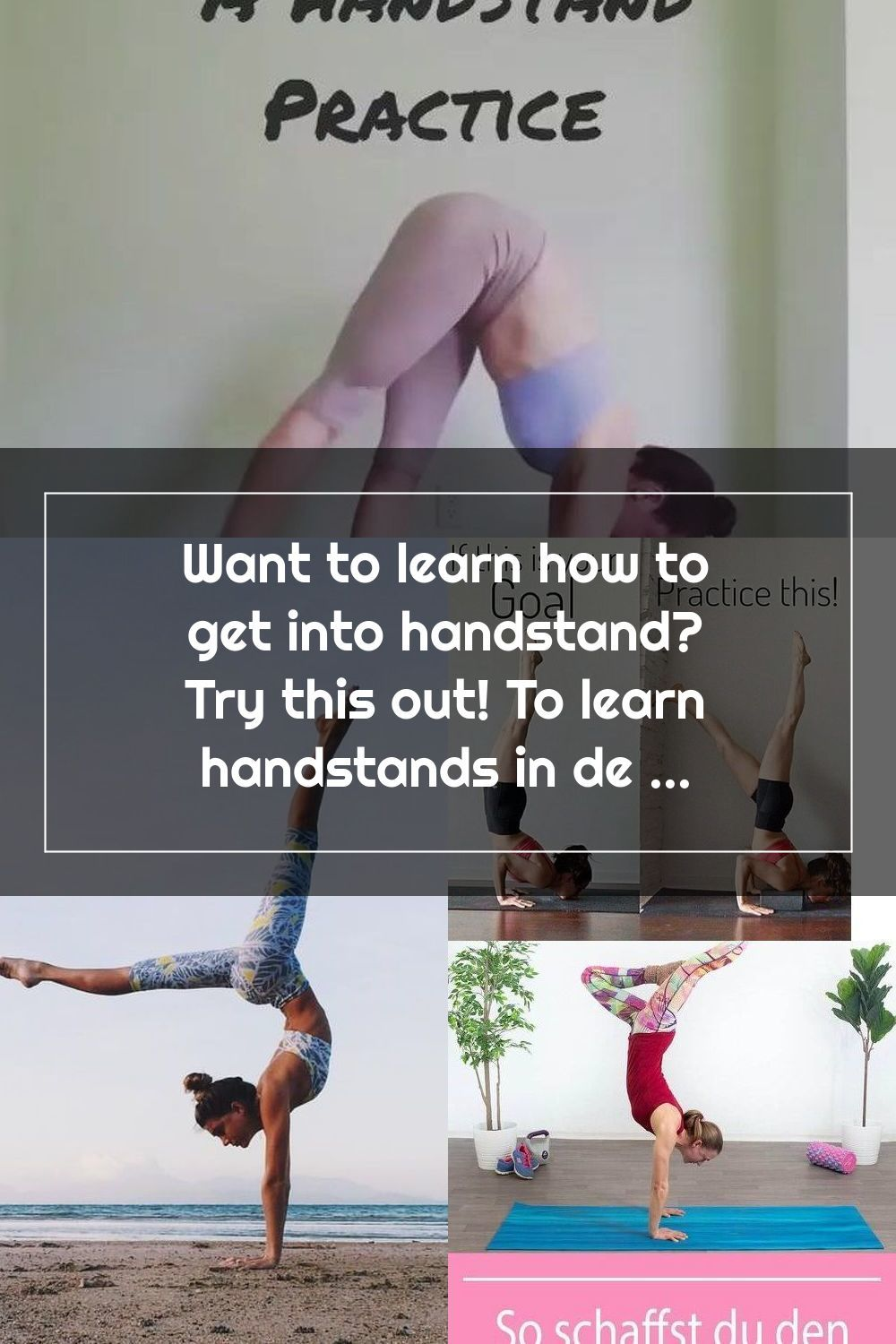 Want to learn how to get into handstand? Try this out! To