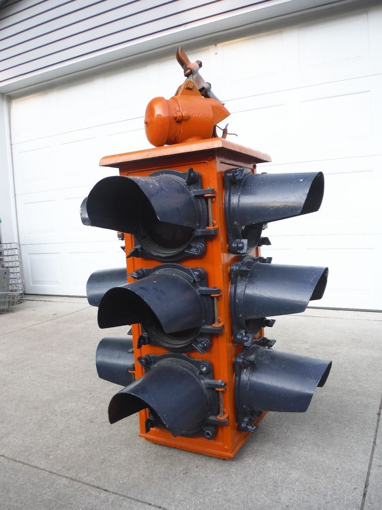 Vintage 1920 S Tokheim Signaphore Alarm 1110 Traffic Signal Light Gas Oil Sign Traffic Signal Signal Light Gas