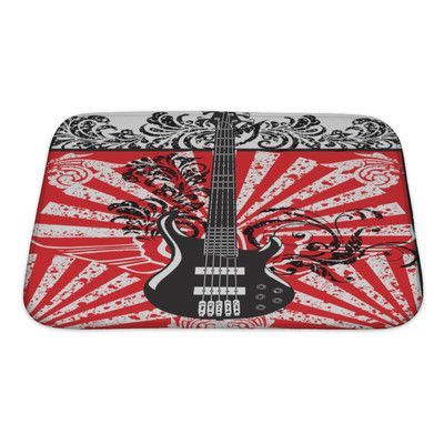 Gear New Instruments Electric Guitar Bath Rug Size: Small