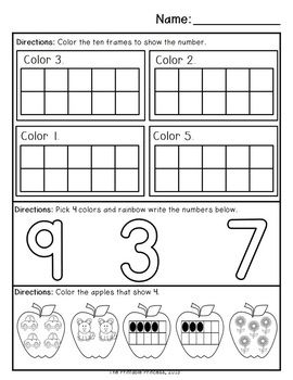 September morning work for Kindergarten. 40 pages (20 reading and 20 math) of independent activities.